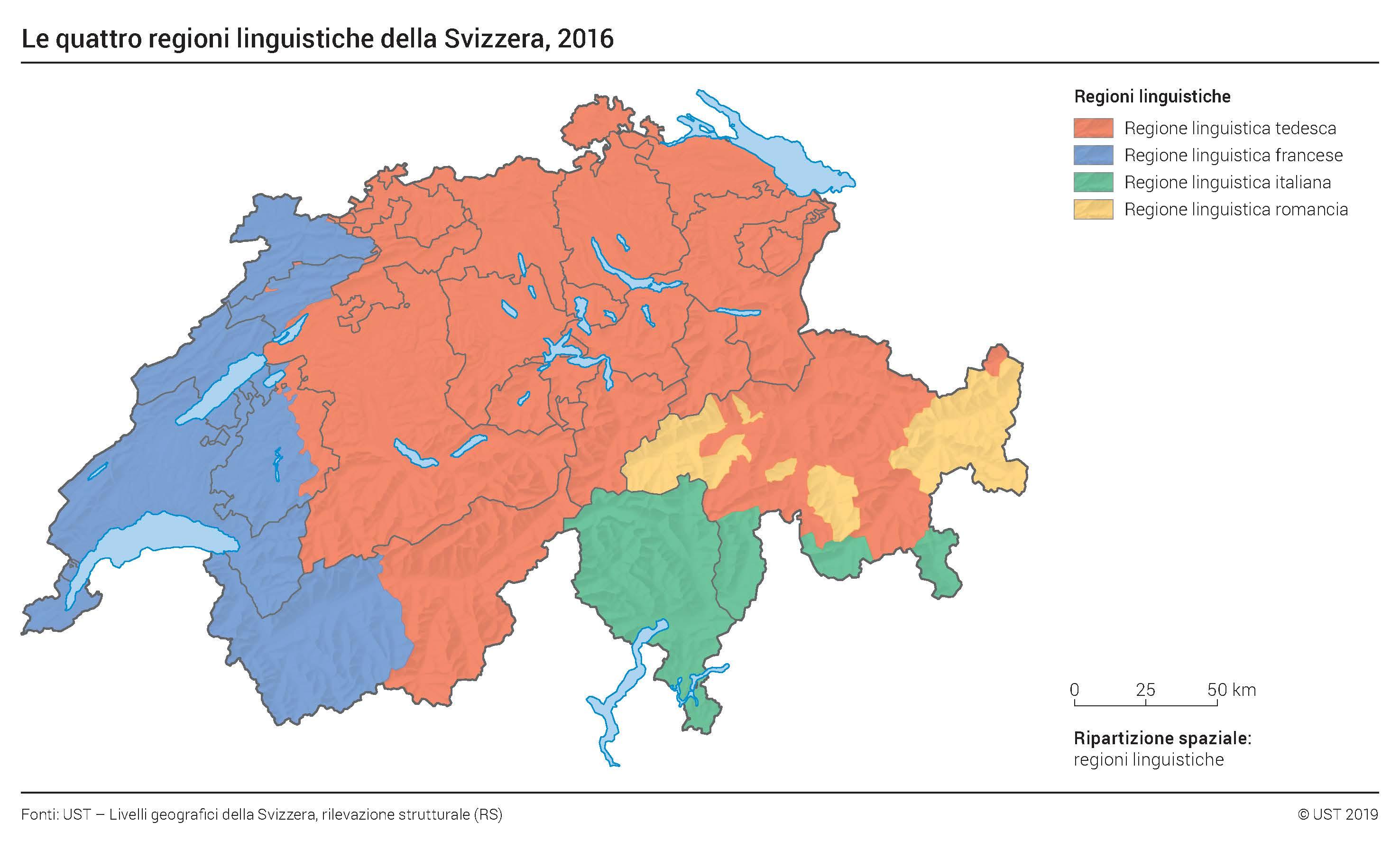 Cartina Cantoni Della Svizzera.Plurilinguismo In Svizzera